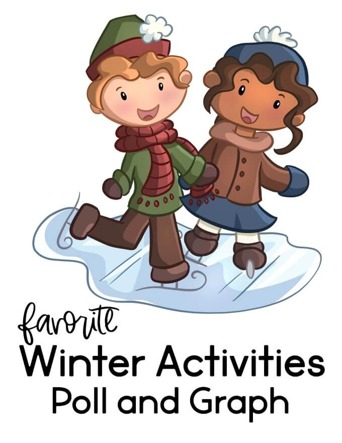 Winter math activity for preschoolers.  Graphing.