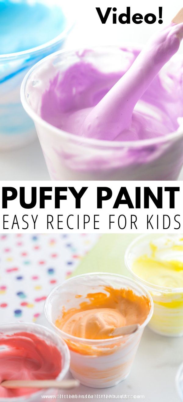 Make your own puffy paint with our simple homemade puffy paint recipe for kids.