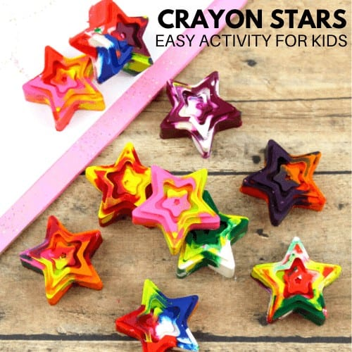 make crayon stars with kids