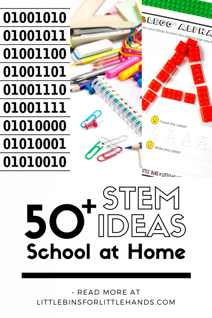 Things to do at home with kids with hands-on STEM activities and science experiments or sensory play recipes!