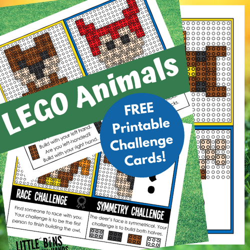 FREE LEGO Animal Challenge Cards For Fun Building