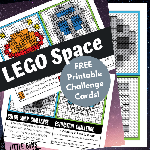LEGO Space Challenges Cards (FREE Printable Fun