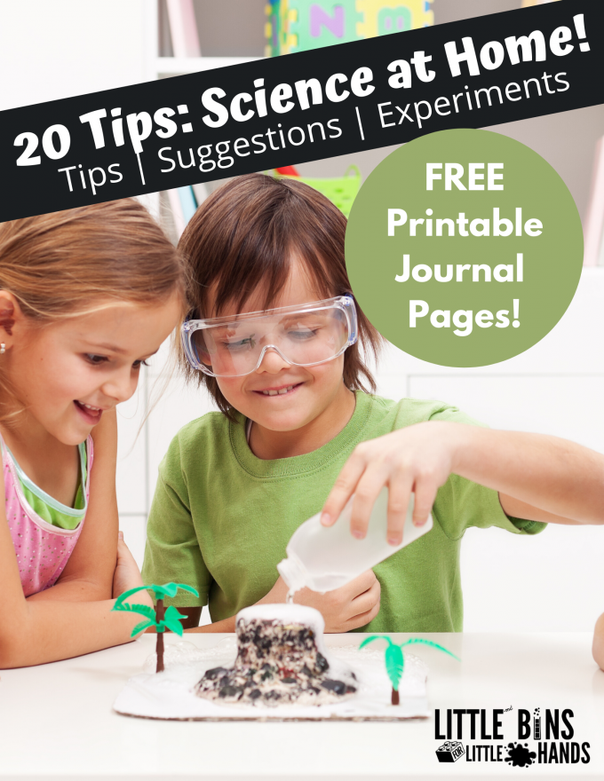Science at home is easy to set up and enjoy with this guide to learning at home with science activities.