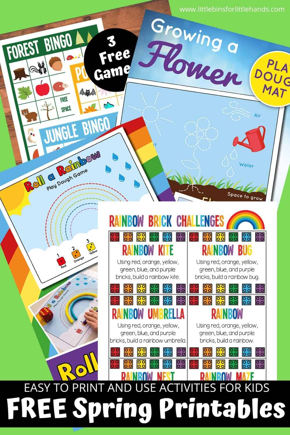 Free Spring Printable Activities for Kids including bingo, scavenger hunts, LEGO and more!