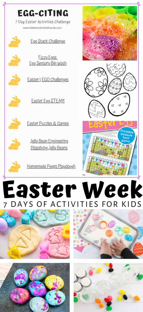 7 days of Easter activities for kids