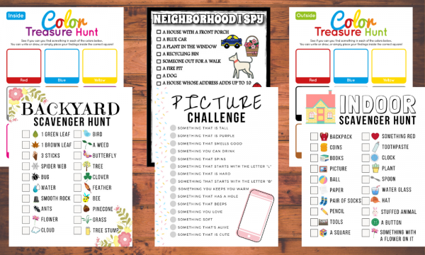 6 Free Scavenger Hunt For Kids Pack Little Bins For Little Hands