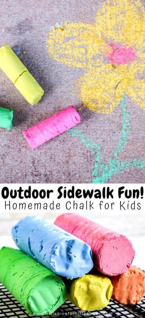 Learn how to make homemade sidewalk chalk with kids for a fun outdoor activity this summer.