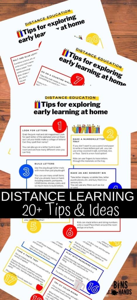 Distance learning tips for easy educational resources or homeschooling