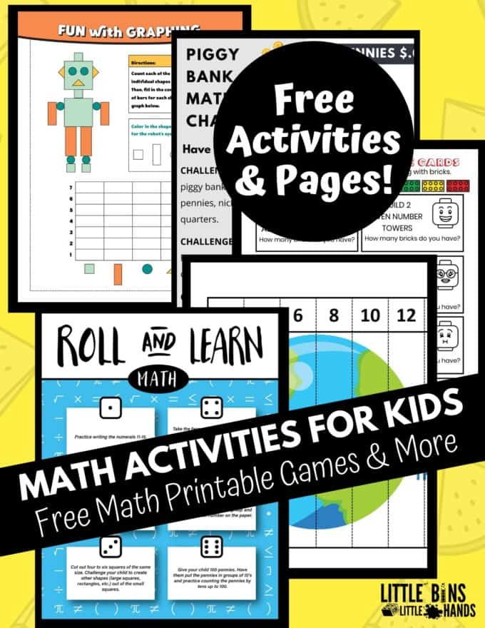 Free Math Worksheets To Make Learning Fun Little Bins For Little Hands