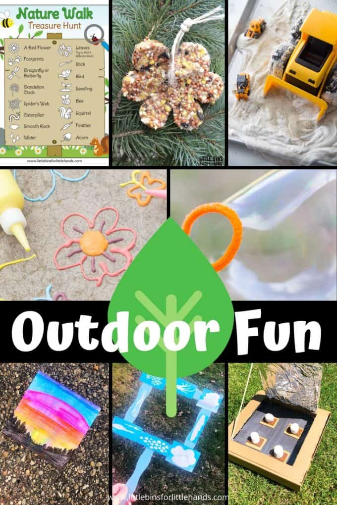 The best most fun outdoor things to do with kids includes outdoor science, STEM, sensory play, and more!