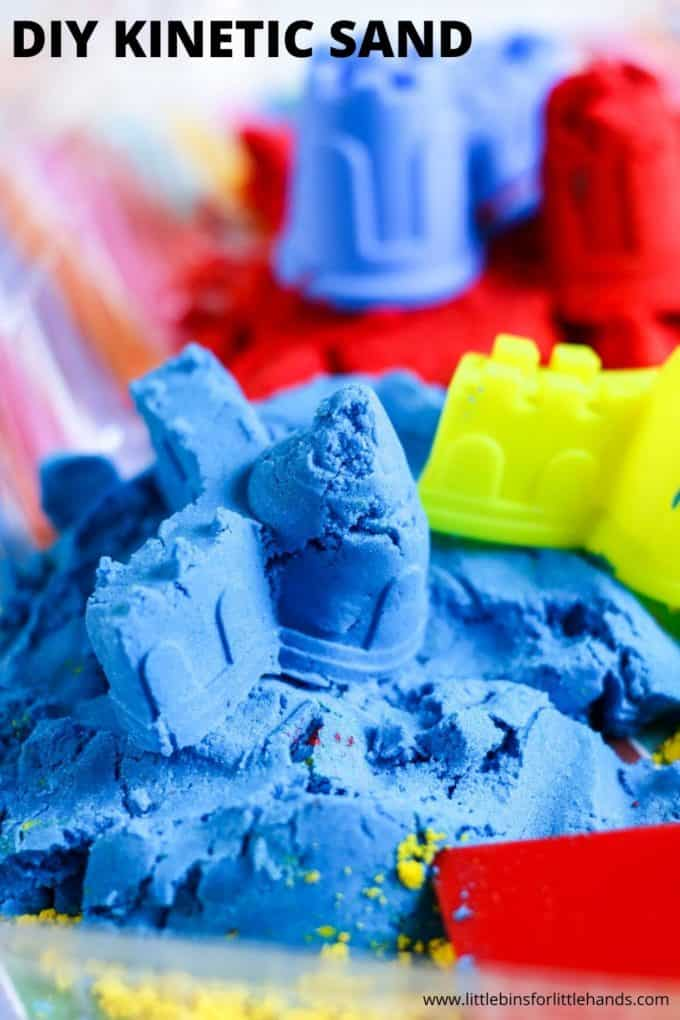 DIY Colored Kintetic Sand Recipe