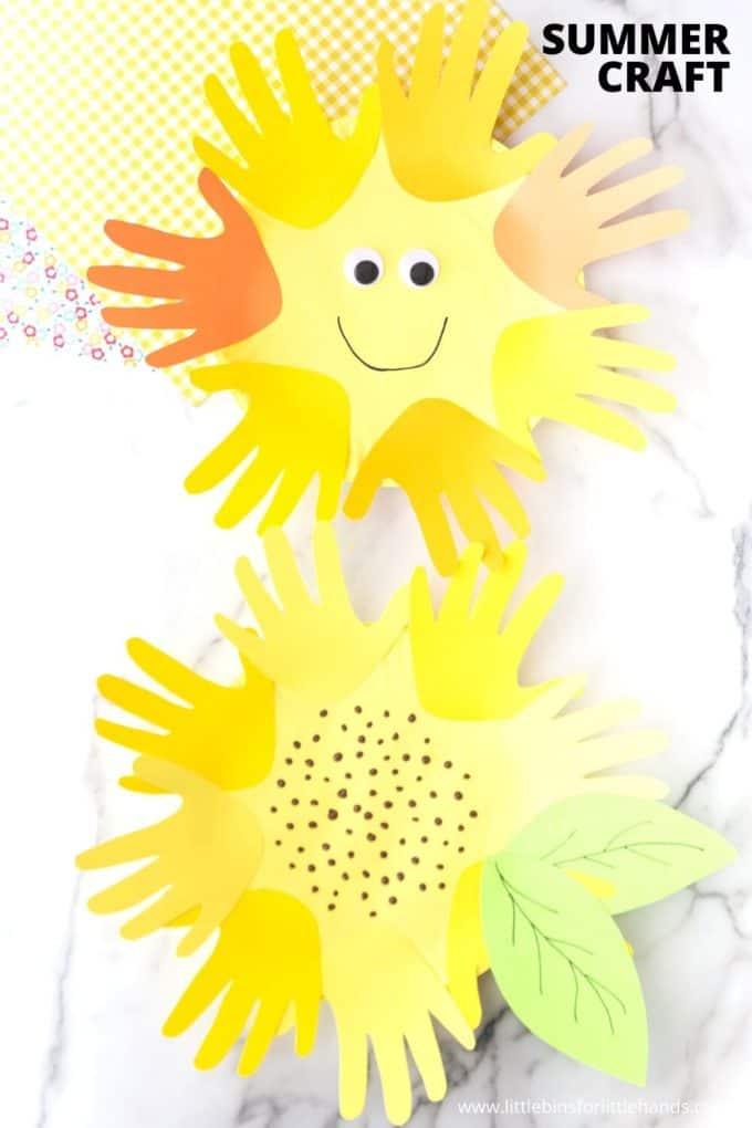 Simple summer handprint craft activity for kids
