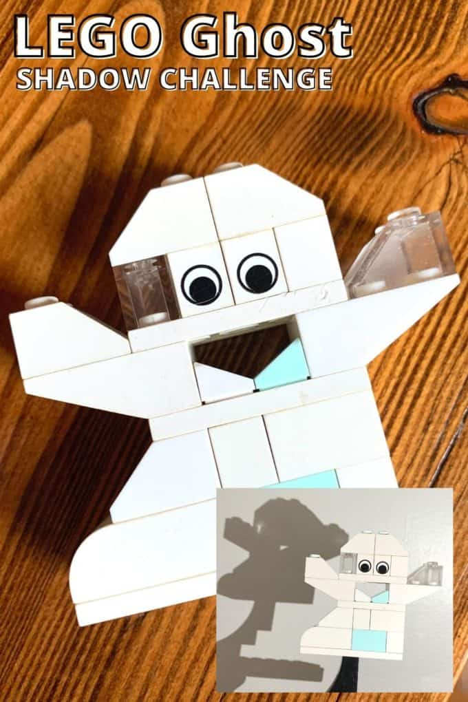 Build a LEGO ghost for Halloween and explore shadow science!