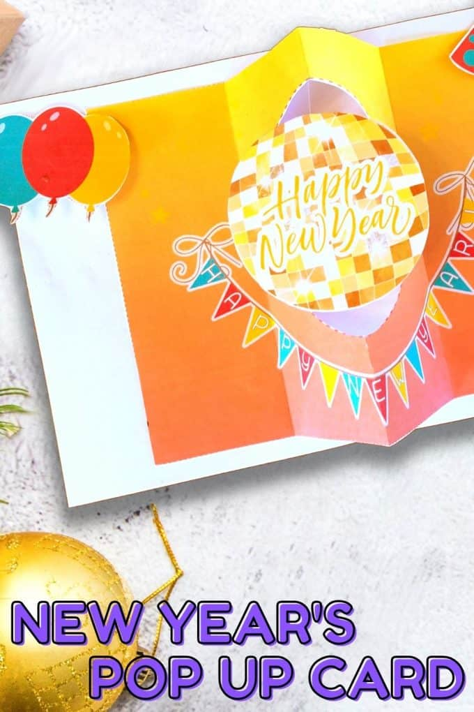 Printable New Years Pop Up Card for Kids STEM Project