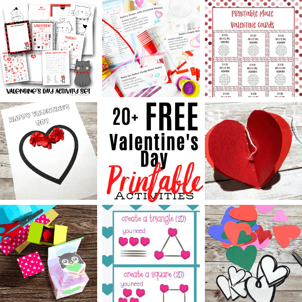 Fun and free valentine printables for kids