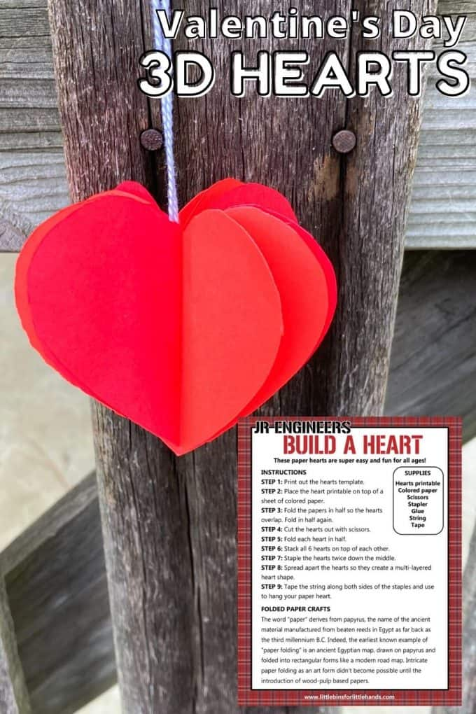 Build a paper heart STEM challenge for Valentine's Day