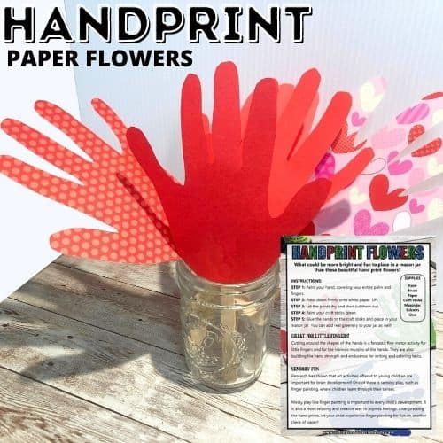 This image has an empty alt attribute; its file name is Handprint-Flower-Art-Square.jpg