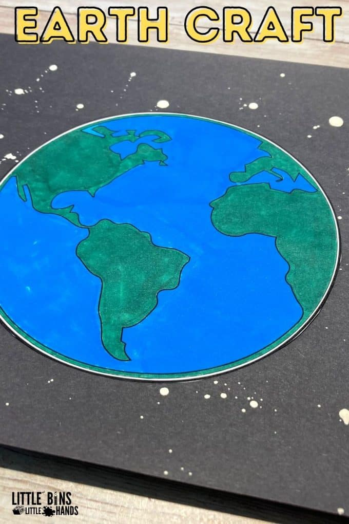 Earth Craft and Paint Splatter Art Project for Kids