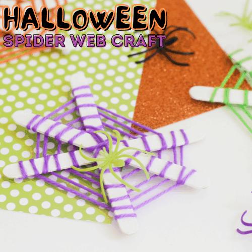 Popsicle Stick Spider Web Craft for Kids