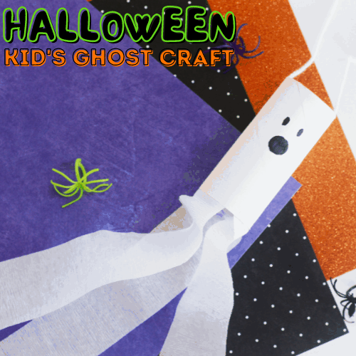 Toilet Paper Roll Ghost Craft